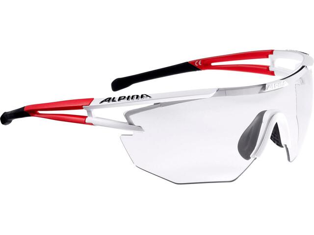 Alpina Eye-5 Shield VL+ Bril, white matt-red-black